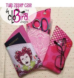 Looking for your next project? You're going to love FREE ~ Tulip Zipper Case by CloBird  by designer CloBird Designs.