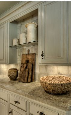 Peonies and Orange Blossoms: Taupe and Greige and Grey Kitchens... Kitchen Trends 2015