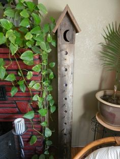 Upcycle-This: Rustic Birdhouse CD Holder