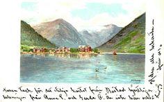 Sogn og Fjordane fylke Balestrand kommune Balholm malt bilde av A. Wang brukt 1901