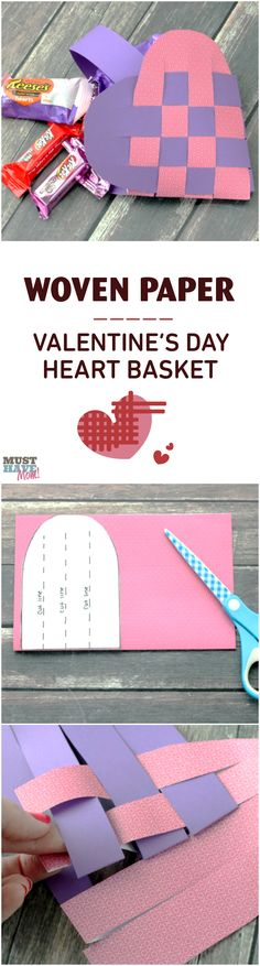 Valentine's Day is about more than just the love and romance of my husband and I that should be celebrated, but it is also about making sure my kids know just how loved they are! That's why this woven heart basket filled withHershey'sValentine's Day candy is the perfect thing for them to wake up to on Valentine's Day!