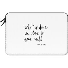 DONE WELL - Macbook Sleeve ($60) ❤ liked on Polyvore featuring accessories, tech accessories, bags, clutches and macbook sleeve