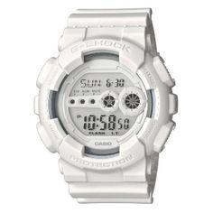 Montre blanche de la marque G-Shock, une montre prisée par les jeunes !
