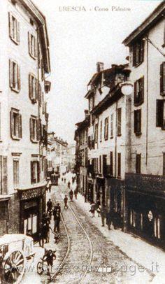 Corso Palestro - Brescia http://www.bresciavintage.it/brescia-antica/cartoline/corso-palestro-brescia/