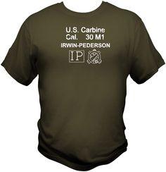 Irwin Pederson M1 Carbine Receveiver Stock Stamp WWII T Shirt sling magazine CMP #Handmade #GraphicTee #M1carbine #WWII #M1Garand #CMP #Paratrooper