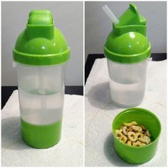 Cup and snack holder in one. From the Dollar Tree. Awwwwesome!