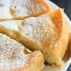 This French Apple Cake is packed with apples and has a dense, creamy base with a cake-like top layer.