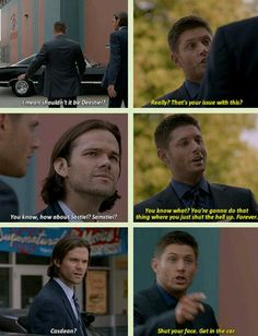 Aww poor Dean, he's not taking this well LMAO
