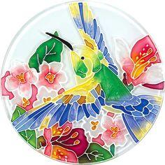 Coaster Set-TCS003-Hummingbird/Lilies - Hummingbird/Lilies