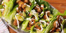 Cilantro-Lime Shrimp Wraps Are Low-Carb Gold - Delish Shrimp Lettuce Wraps, Lettuce Wrap Recipes, Shrimp Tacos, Lettuce Tacos, Recipe For Lettuce Wraps, Lettuce Cups, Veggie Wraps, Shrimp Pasta, Low Carb Recipes