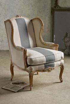 Sophie Wing Back Bergere - Antique Wingback Chair, Upholstered Wingback Chair, Wingback Chair | Soft Surroundings