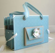 This is a handmade Card Organizer...I can't wait to make one for my cards!!