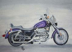 Harley Davidson watercolour