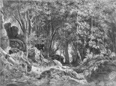 Valaam. Forest on the rocks - Ivan Shishkin