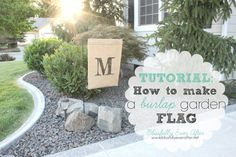 How to make a flag- at blissfullyeverafter.net