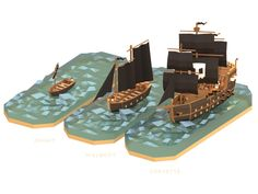 Pirates of the polygon sea by Alex Pushilin, via Behance