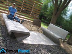 concrete furniture bench design