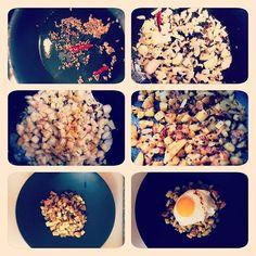 Indian spiced hash with sunny side up. #homemade #Delicious #eeeeeats #nomnom #culinary #food #foodie #foodporn #foodgasm #chefslife #chefstalk #chefsofinstagram #foodstagram #indian #eggs #tasty http://hauteaudio.com