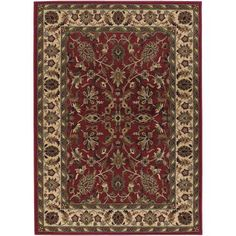 Couristan Anatolia Floral Ispaghan Rug, Red/Cream
