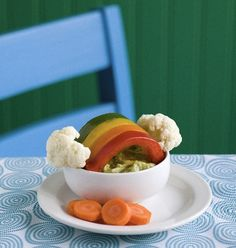 Over the Veggie Rainbow Snack for Kids- A Fun, Creative Way to Get Your Kids to Eat Their Veggies