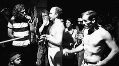 """speakingparts: """" Ken Kesey and Neal Cassady talk to people at the Merry Pranksters' Acid Test Graduation. 31 Oct The Warehouse, Harriet Street, San Francisco, California, USA from the exhibition ANGELHEADED HIPSTERS: images of the beat. James Agee, William Carlos Williams, Ken Kesey, Tom Wolfe, William Faulkner, Beat Generation, Jack Kerouac, Retro Pop, Albert Camus"""