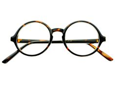 Retro Clear Lens Keyhole Circle Round Sunglasses Tortoise R2082