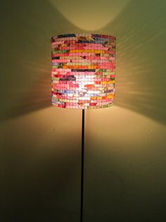 COFFEE FILTER ART - Floor Lamp Light Stand Lighting 100% Handcrafted Unique Lampshade
