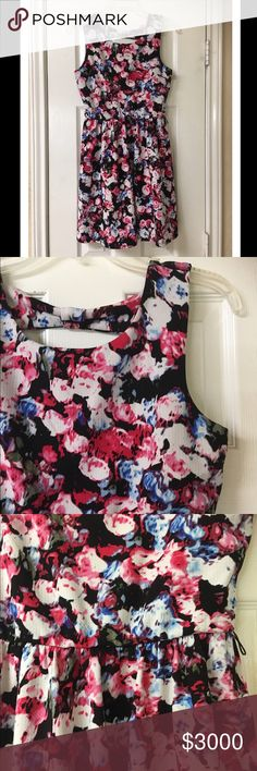 "Lily Rose Black Floral Skater Dress So pretty! Lily Rose Black Floral Skater Dress. Great condition! Great for the spring & summer. Can be worn in cooler weather with tights, booties and a cardigan. Polyester/Spandex blend. Has belt loops in case you want to belt it. Slip on style. Swingy skirt. Bust 32"", waist 24""- 32"", length 32.5"". Romantic, retro, vintage, fit and flare, a-line. Lily Rose Dresses Midi"