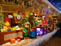 """Is it possible to add a bit more """"hygge"""" to an amusement park through Christmas lighting, festive decoration and static and animatronic characters? Festival Decorations, Holiday Lights, Amusement Park, Hygge, Denmark, Festive, Presents, Characters, Lighting"""