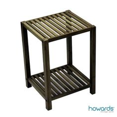 2 Tier Bamboo Shelf, a multi-purpose storage shelf made from environmentally sustainable bamboo. Ideal as a stylish side table in the bedroom or living room. Due bamboo's moisture-resistant properties it can be used in the bathroom to store towels and more. Available from Howards Storage World.