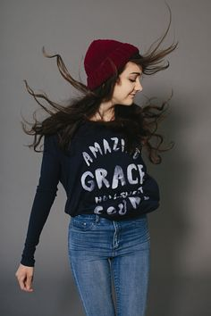 walk in love. / The Hymn Collection / Amazing Grace / winter style / crewneck / beanie