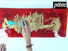 Pébéo - Mixed Media : mixer la gamme Studio Acrylics, Vitrail et Fantasy sur un châssis 3D - YouTube