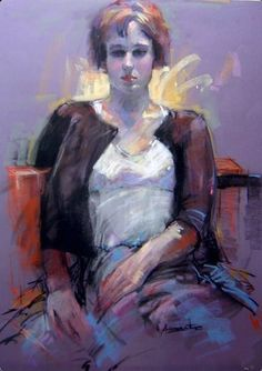 48 Female Figure Drawing Ideas With Crayon - Art Painting People, Figure Painting, Figure Drawing, National Art School, Royal Art, Pastel Portraits, Art Society, Spanish Artists, Crayon Art