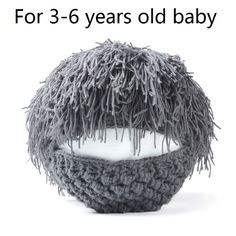 Handmade Wig Beard Hats for Men & Kids