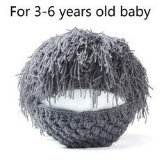 Handmade Wig Beard Hats for Men & Kids