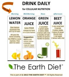 The Earth Diet:  Drink Daily for Cellular Nutrition