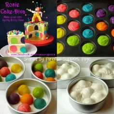 Rainbow balls cake