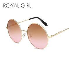 712315cb3d4 ROYAL GIRL Round Lens Brand Design Sunglasses Women Cool Sun Glasses Summer  Styl  fashion