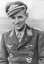 Erich Hartmann - under training in 1940 but eventually to score 352 victories.