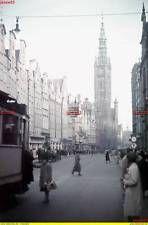 Danzig 1941 - Langer Markt - Straßenbahnhaltestelle