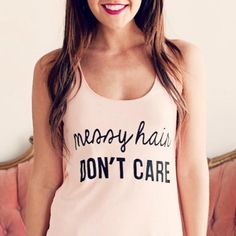 Today's motto. #MessyHair #DontCare