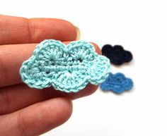Crocheted clouds