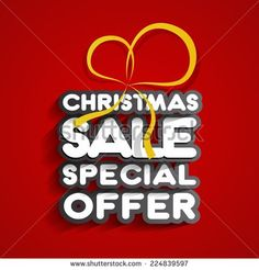 Christmas Sale Design On Background vector illustration - stock vector