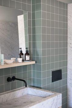 #badkamer #tegels #groen
