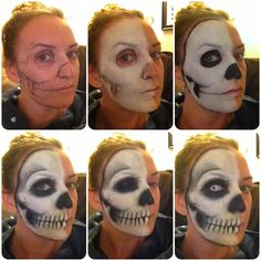 How to skull makeup |special effect|