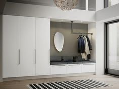 16 Elegant Scandinavian Hallway Designs That Can Improve Your Home entrance hall ideas Living Room Interior, Home Interior Design, Interior Livingroom, Flur Design, Hallway Designs, House Entrance, Entrance Halls, Entry Hall, Mudroom