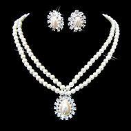 Beautiful Clear Crystals And Imitation Pearls Jew... – USD $ 6.99