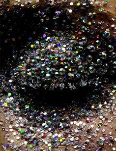 Splattered with rhinestones