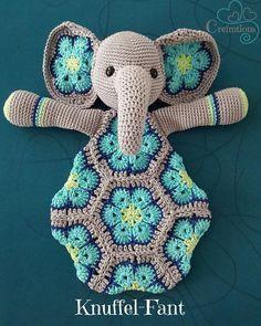 Het betreft een Nederlands talig patroon, u ontvangt een PDF bestand zodat u zelf Knuffel-Fant kunt maken Crochet Lovey, Crochet Baby Toys, Crochet Diy, Crochet Amigurumi, Baby Girl Crochet, Crochet For Kids, Crochet Crafts, Crochet Dolls, Crochet Projects