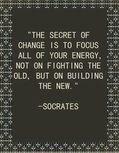 """Una frase muy acertada para el flipped classroom """"El secreto del cambio está centrado.... en construir lo nuevo"""""""